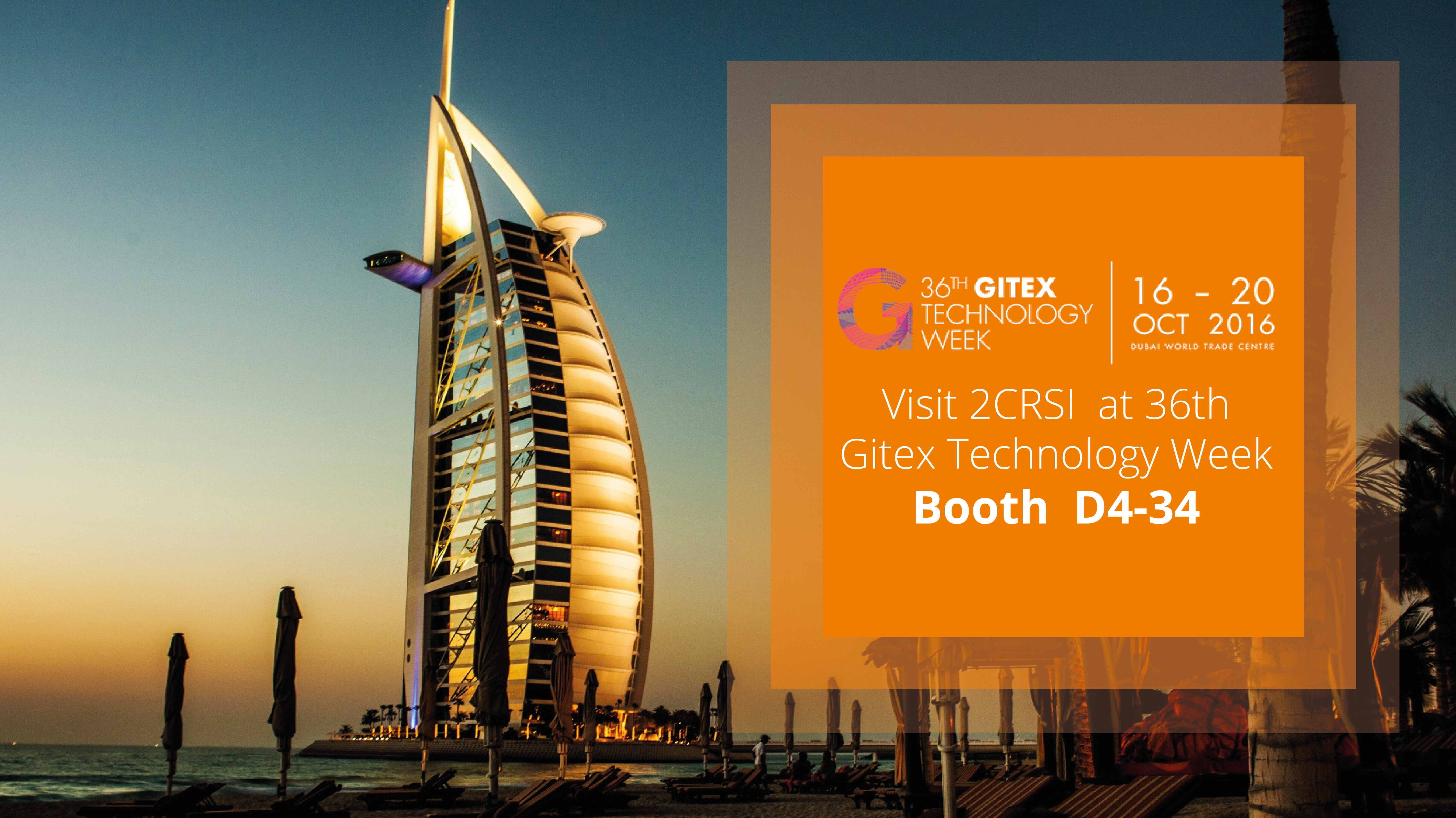 2CRSI at GITEX 2016 in Dubai