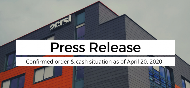 2CRSi new contracts cash situation