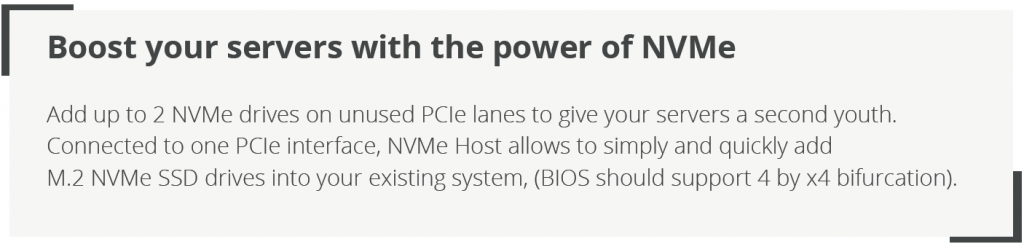 Boost your servers with the NVMe host